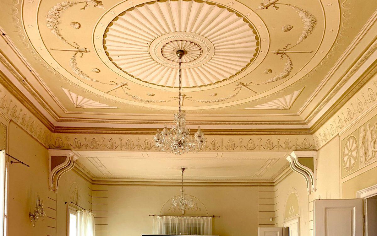 Rybniční zám strop