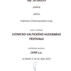 Jan Grolich záštita LVHF2021